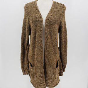 BCBGMaxazria Brown Knit Sweater Cardigan Large